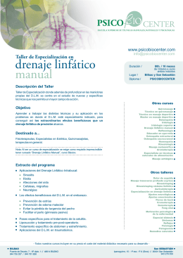 drenaje linfático manual