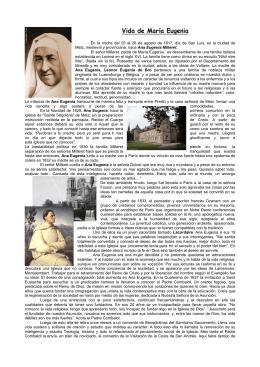 Vida de María Eugenia - Colegio de la Asunción