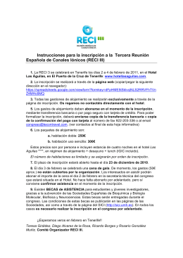 RECI III - the spanish ion channel initiative