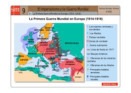 La I Guerra Mundial en Europa