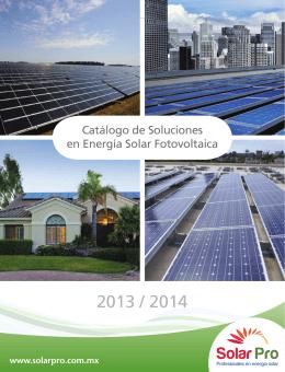 Catálogo de Soluciones en Energía Solar Fotovoltaica