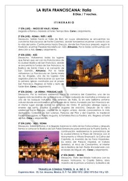 LA RUTA FRANCISCANA: Italia