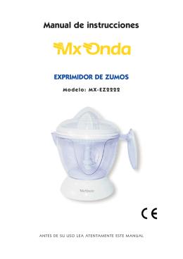 Manual de instrucciones EXPRIMIDOR DE ZUMOS
