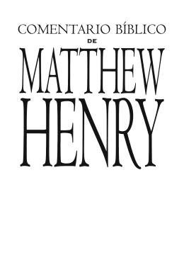 Comentario Matthew Henry