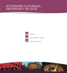 ACTIVIDADES CULTURALES, DEPORTIVAS Y DE OCIO