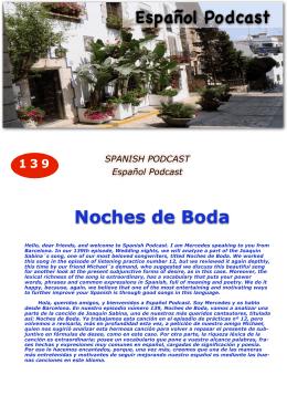 139 Noches de boda - Español Podcast / Spanishpodcast