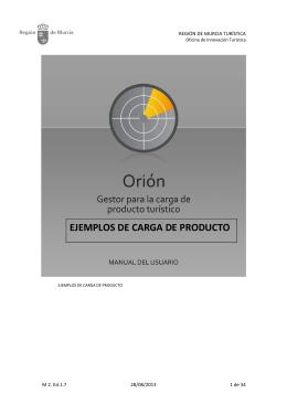EJEMPLOS DE CARGA DE PRODUCTO