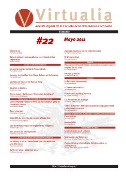 22 - Virtualia - Escuela de la Orientación Lacaniana