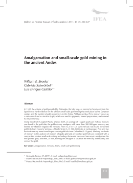 Amalgamation and small-scale gold mining in the ancient Andes