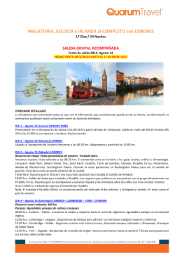 INGLATERRA, ESCOCIA e IRLANDA al COMPLETO con LONDRES
