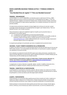 BASES CAMPAÑA NAVIDAD TIENDAS ACTIVA Y TIENDAS