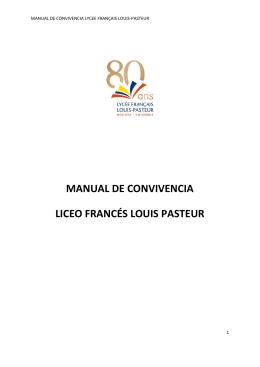 MANUAL DE CONVIVENCIA LICEO FRANCÉS LOUIS PASTEUR