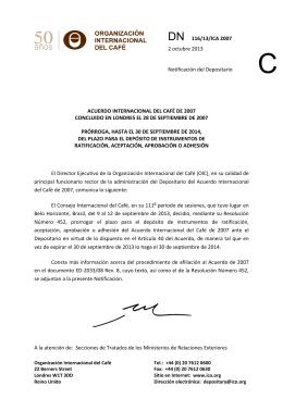 acuerdo internacional del café de 2007 concluido en londres el 28