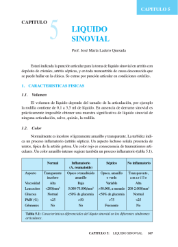 Cap. 5 - Líquido sinovial
