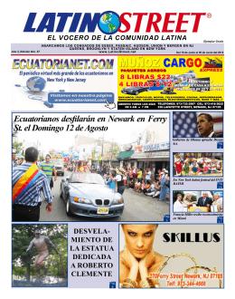 Ecuatorianos desfilarán en Newark en Ferry St. el