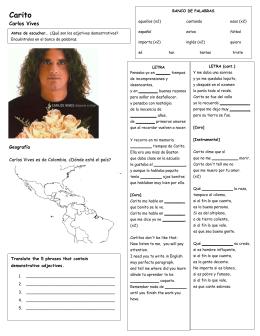 Carito - La Página de Español de Señorita Makrinos