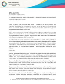 OTRA CANCIÓN - Espacio Memoria y Derechos Humanos