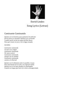David Lindes Song Lyrics (Letras)