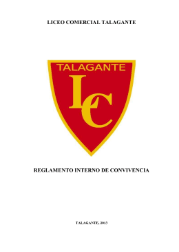 REGLAMENTO INTERNO DE CONVIVENCIA – LICEO COMERCIAL