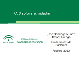 4.- RAID Software: mdadm