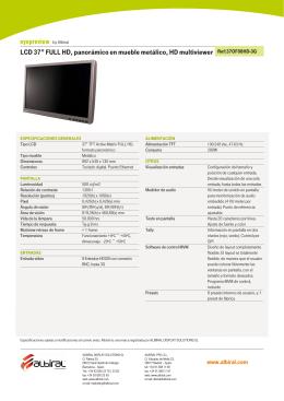 """LCD 37"""" FULL HD, panorámico en mueble metálico, HD"""