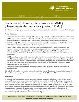Leucemia mielomonocítica crónica (CMML)
