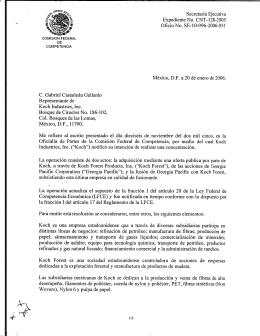C. Gabriel Castañeda Gallardo Representante de Koch Industries