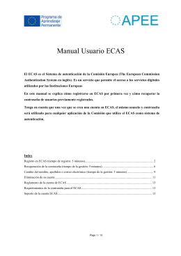 Manual Usuario ECAS