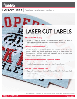 LASER CUT LABELS