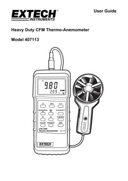 User Guide Heavy Duty CFM Thermo