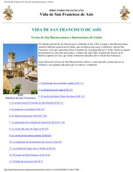 Vida de San Francisco de Asís, por San Buenaventura y Giotto