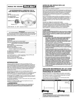 introducción ubicación recomendada de las luces estroboscópicas