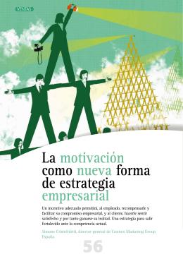 La motivación como nueva forma de estrategia empresarial