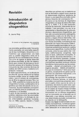 Revisión Introducción al diagnóstico citogenético