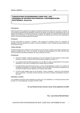 CONVOCATORIA EXTRAORDINARIA DE ISE/IE. CURSO 02/03
