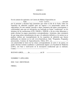 Declaración jurada - Facultad de Medicina