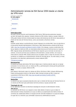 Administración remota de ISA Server 2004 desde un cliente de VPN