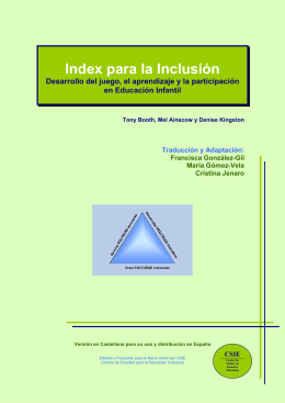 Index para la Inclusión - Centre for Studies on Inclusive Education