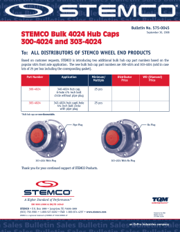 STEMCO Bulk 4024 Hub Caps 300-4024 and 303-4024