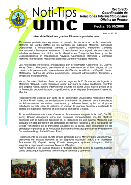 30 de octubre - Universidad Marítima del Caribe