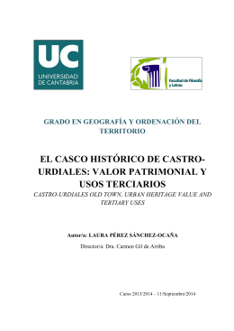 el casco histórico de castro- urdiales: valor patrimonial y usos