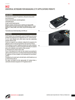 Videotec DCZ Keyboard
