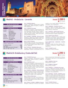 Madrid - Andalucía - Levante Madrid & Andalucía y