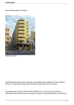 Keine Übersetzungen vorhanden. Hotel en Cullera Las