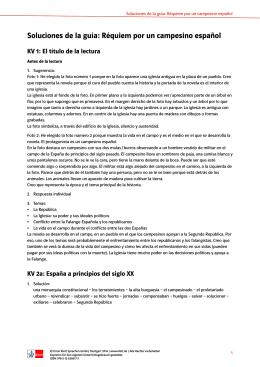 Soluciones de la guía: Réquiem por un campesino español