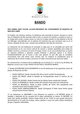 bando - Ayuntamiento de Roquetas de Mar