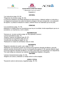 TEMARIO 4° ESPAÑOL *Los instructivos (págs. 92