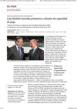 Caja Madrid concedía préstamos a clientes sin capacidad de pago