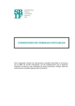 SBIF.cl - Compendio de Normas Contables Bancos