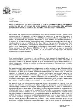 proyecto de real decreto xx/xx por el que se